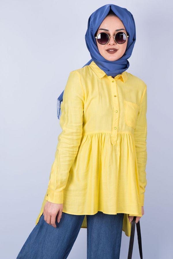 825979b7c1569 En Şık Tesettür Tunik Gömlek Modelleri | Tesettür | Şık, Model
