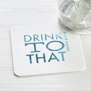 Custom Coasters | Save the Date & Wedding Coaster Favors | ForYourParty.com