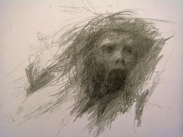 Mental patient in a psychotic state drew this just before he took his own life. There is so much fear in this drawing - Imgur
