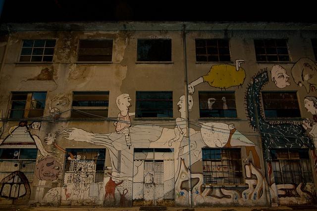 around street art