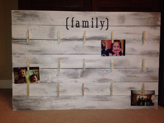 Pallet Family Picture Display Board by MMillerDesigns on Etsy, $95.00
