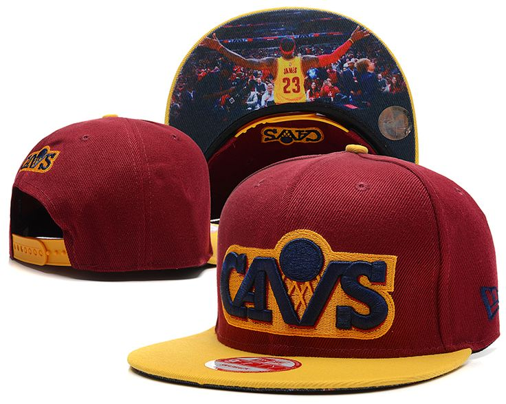 Nba Cleveland Cavaliers Snapback Lebron James Wine Yellow