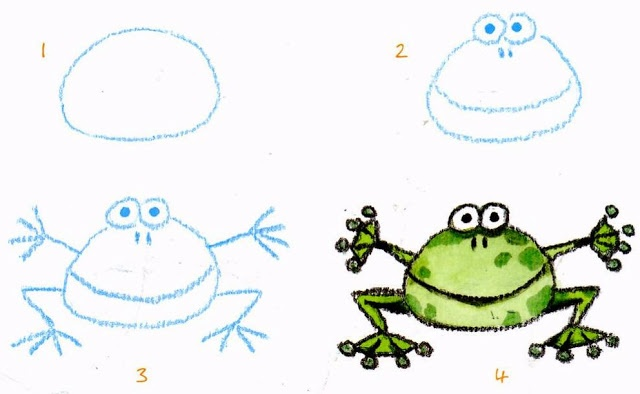 #DIY for young learners: How to draw a frog.