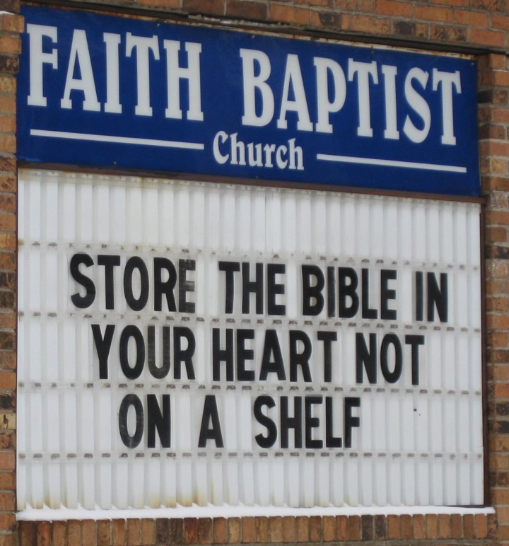 STORE THE BIBLE IN YOUR HEART NOT ON A SHELF | Funny ...