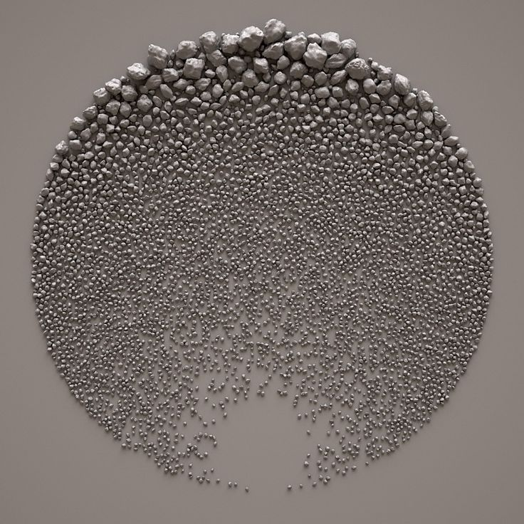"""Back in 2009, Italian designer Giuseppe Randazzo of Novastructura released a series of generative digital """"sculptures"""" that depicted carefully organized pebbles and rocks on a flat plane. Titled Stone Fields, the works were inspired in part by similar land art pieces by English sculptor Richard Long."""