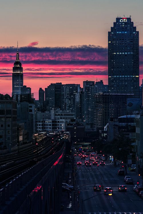 New York City Feelings - NYC Sunset by Itoodmuk #nyc