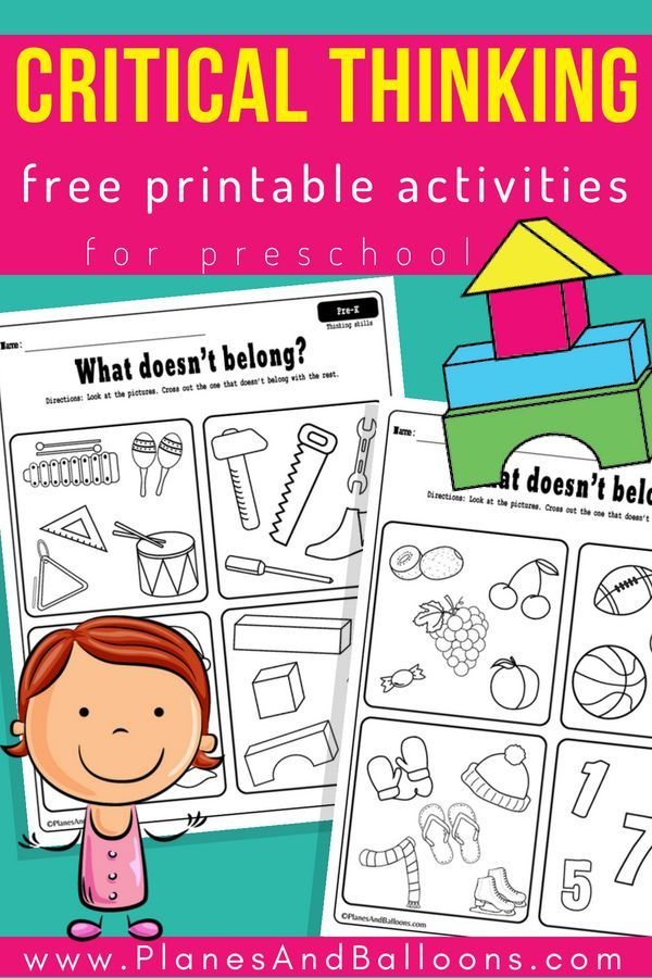 Critical Thinking Preschool Worksheets Free Printable Planes Balloons Critical Thinking Activities School Readiness Activities Kids Critical Thinking Activities for preschoolers at home pdf