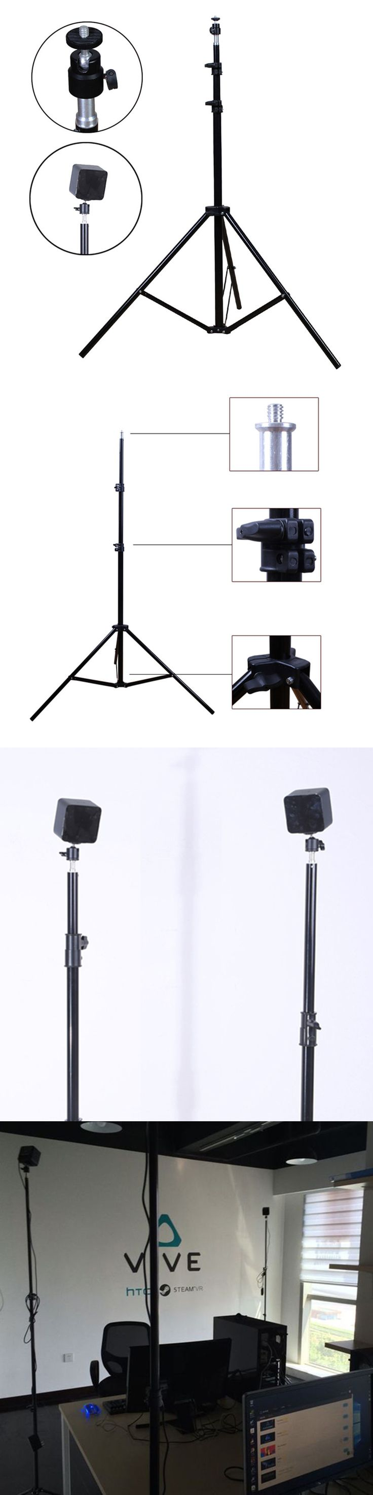 Electronics Parts: Locator Base Station Tripod Holder Mount With Ptz For Htc Vive Htc Vr Glasses BUY IT NOW ONLY: $53.0