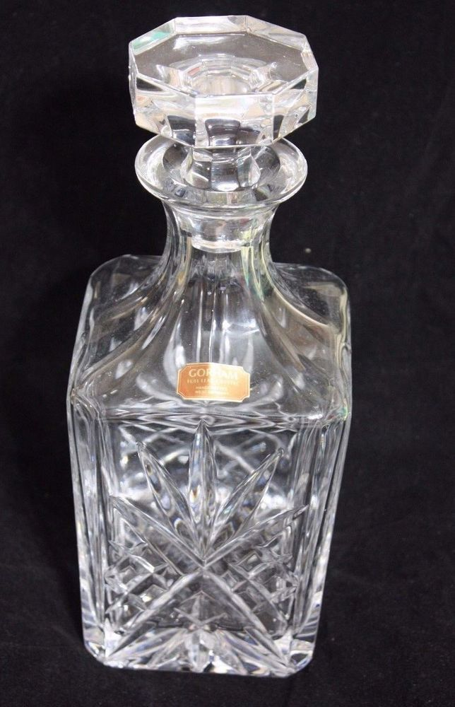 GORHAM FULL LEAD CRYSTAL DECANTER HANDCRAFTED WEST GERMANY WHISKEY VODKA TEQUILA #Gorham