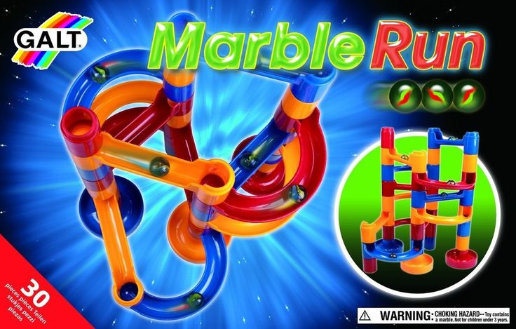 Galt Marble Run is 24 brightly coloured pieces in 4 different shapes that slot together into a marble run, plus 6 marbles. Children will enjoy devising a variety of routes for the marbles to roll along as they descend to a home base. 4 Years+ $51.99