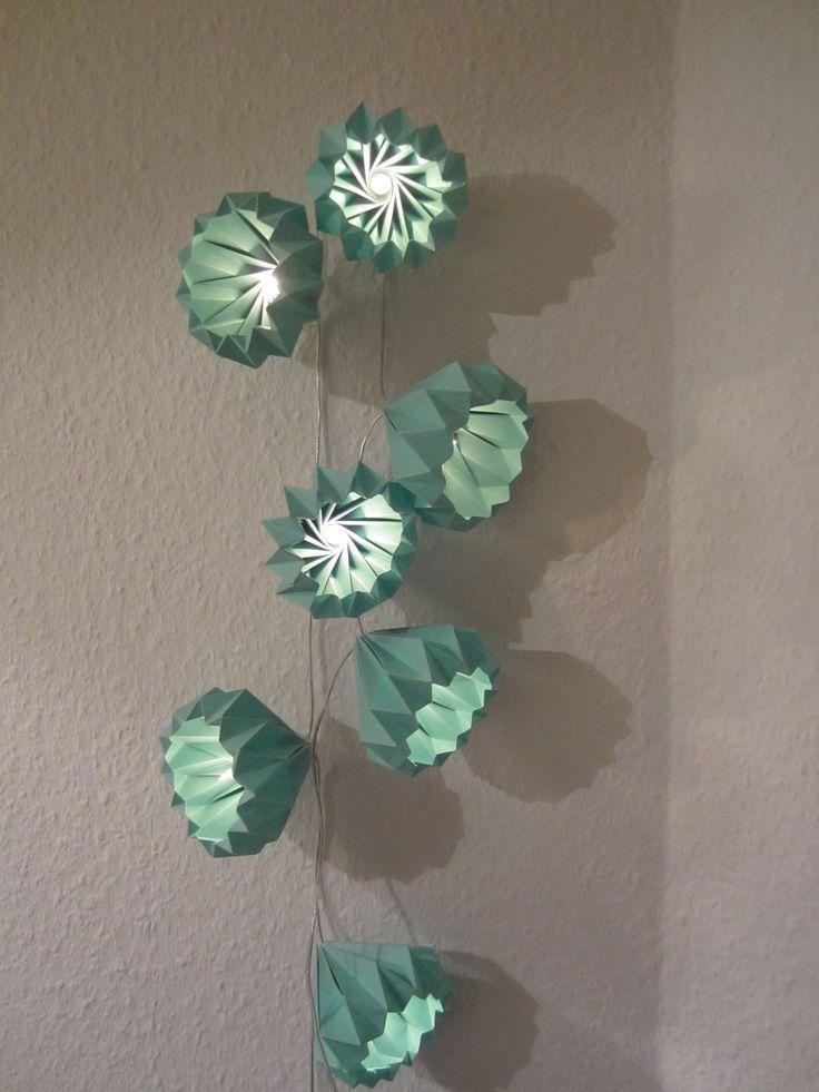 origami lichterkette paper string lights abat jour pinterest abat jour et abat. Black Bedroom Furniture Sets. Home Design Ideas