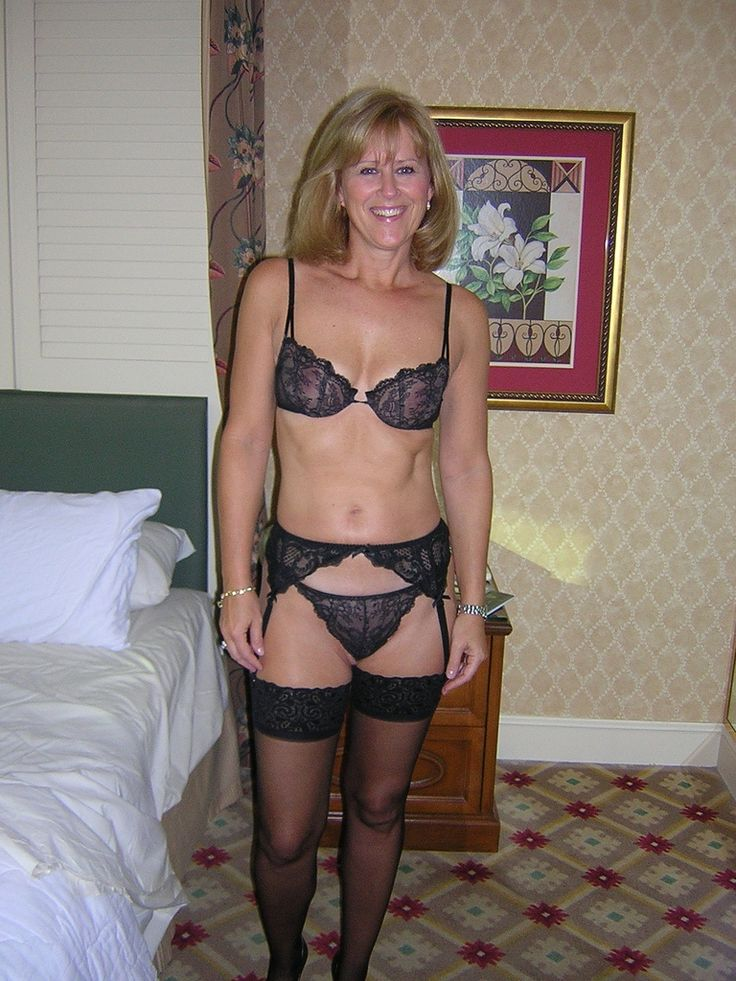 Mature Women  1234  Women Lingerie, Old Mature, Black -3738