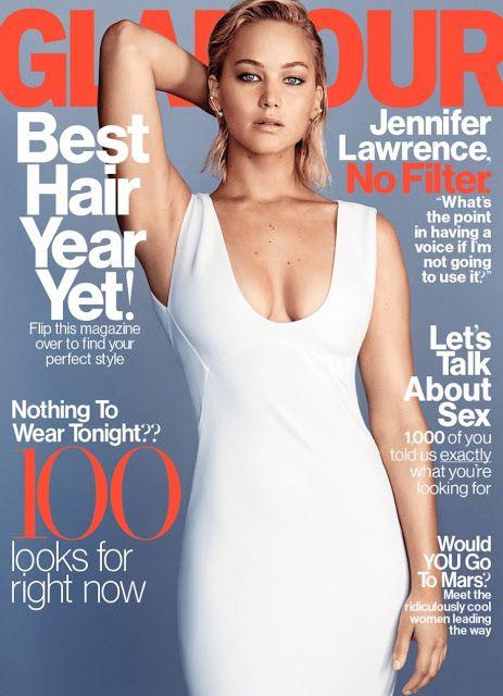 Fantasy Fashion Design: Jennifer Lawrence protagoniza una sugerente portada en la revista Glamour