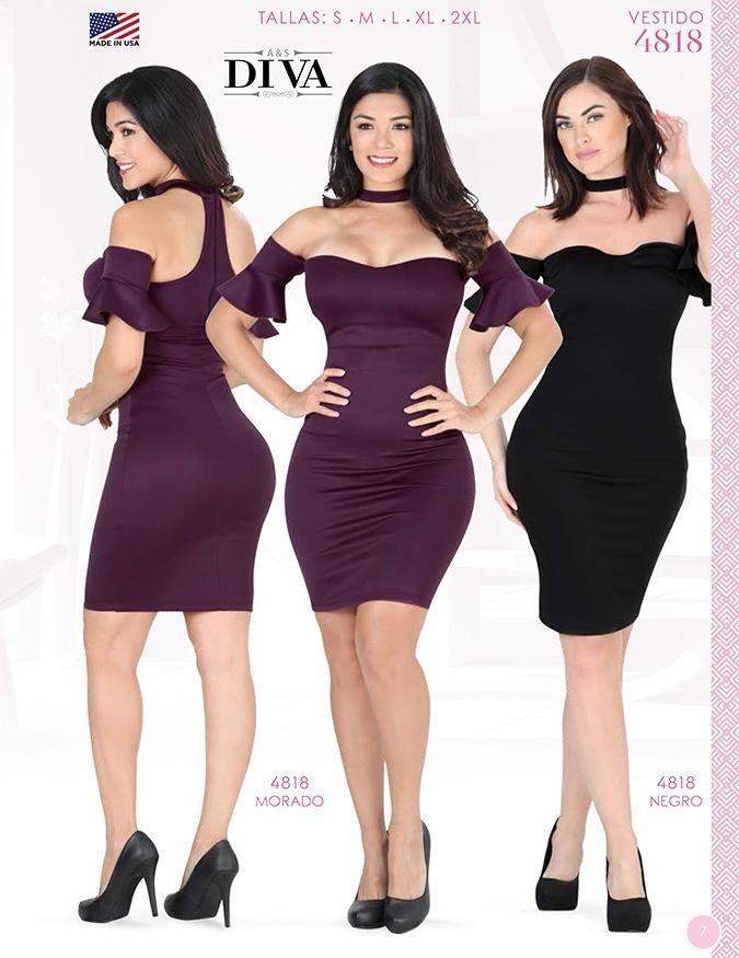 VESTIDO MODA DIVA PARA DAMAS ORIGINAL / DRESS LADIES DIVA FASHION ORIGINAL