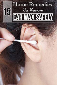 Best 25+ Ear wax ideas on Pinterest | Natural ear wax removal ...
