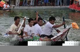 Bottle canoe