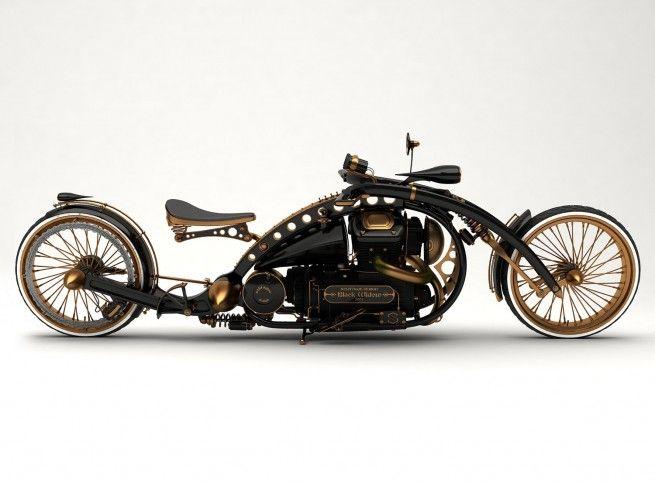 Steampunk Holmes road ready chopper
