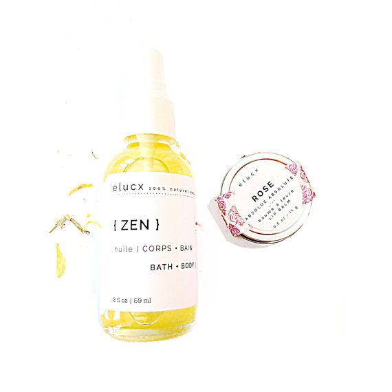 ZEN Small SPA Gift Set / Organic Skin Care / Women Gift / by ELUCX