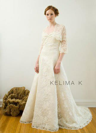 French Lace Roxanne #22 and Bolero D Vermeer #129 kelima k wedding dress designs