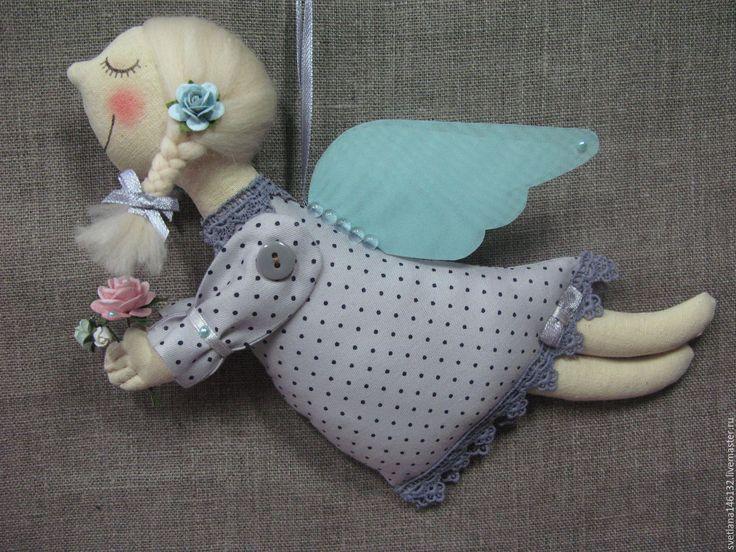 Купить Ангелы: мятный, да серый.... - мятный, серый, платье в горошек, розы, розы из бумаги, букет