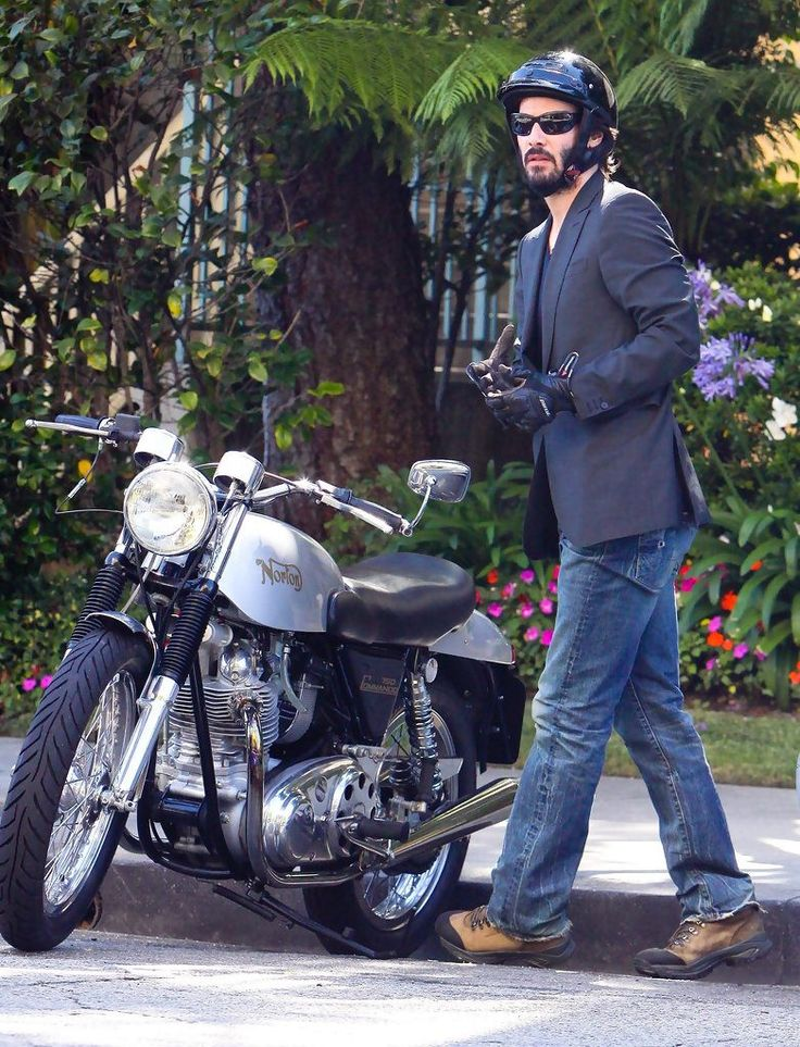 https://flic.kr/p/VeV6Zm | Candids2013_CA | Keanu Reeves out for a cruise on his motorcycle in Hollywood, California on May 9, 2013