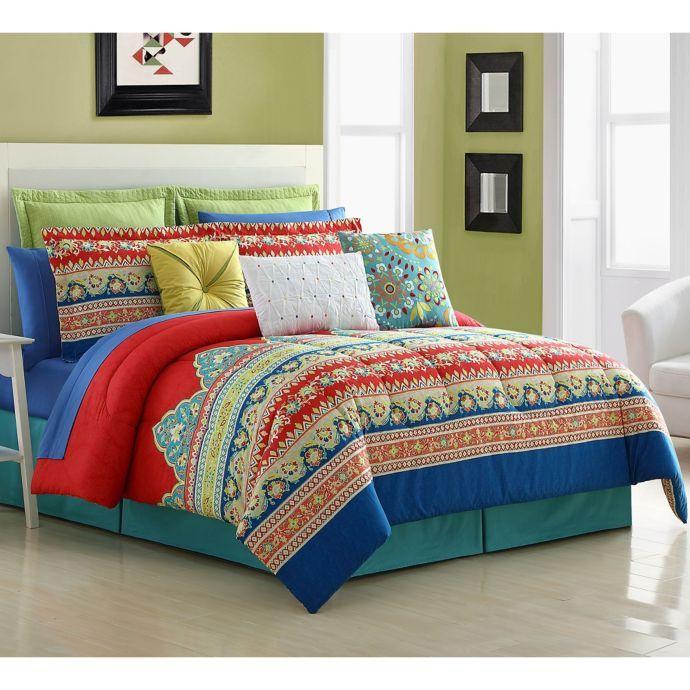 Fiesta Mariposa Reversible Comforter Set Comforter Sets Full Comforter Sets Cotton Comforter Set