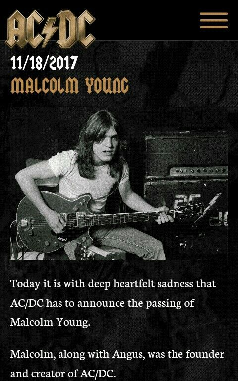 Incredible great musician and composer. I love music, I have lost my interest for rock music long long ago, but I still admire ACDC. Thank you Malcom for this wonderfull riffs and that groove.