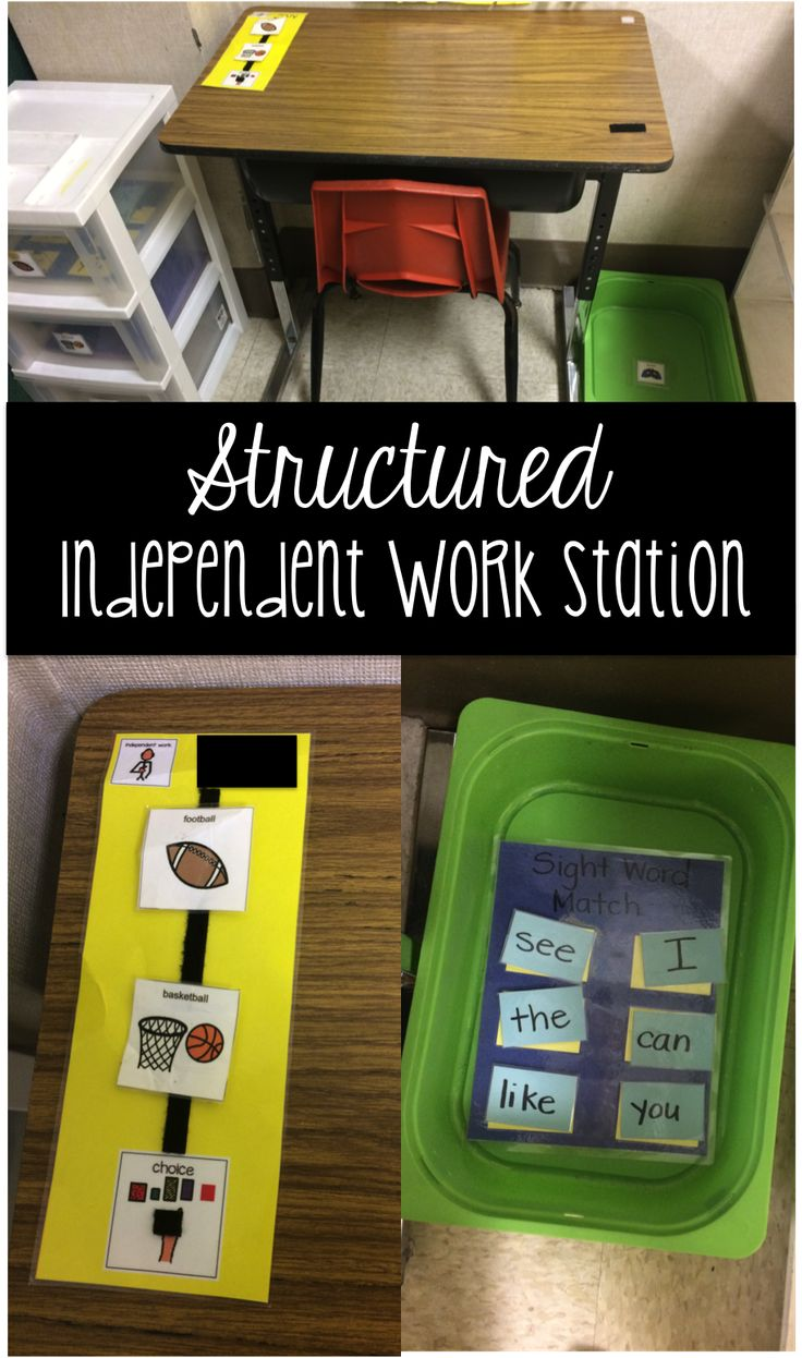 Structured Independent Work Stations #2.  Step by step, easy to implement work station for the special or general education classroom.