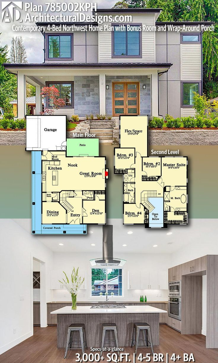 Modern House Plans Architectural Designs Home Plan 785002kph Gives You 4 5 Bedrooms 4 Baths And Dear Art Leading Art Culture Magazine Database House Plans Architectural Design House Plans Modern House Plans