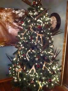 Country Christmas Tree. {Deer antlers,