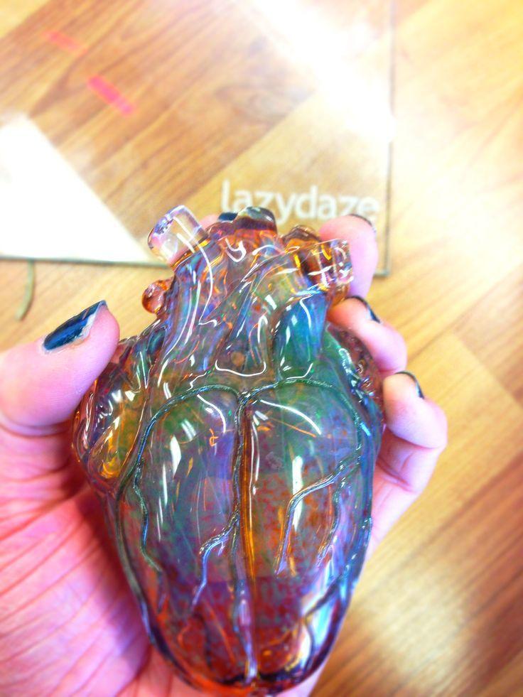 Glass heart piece