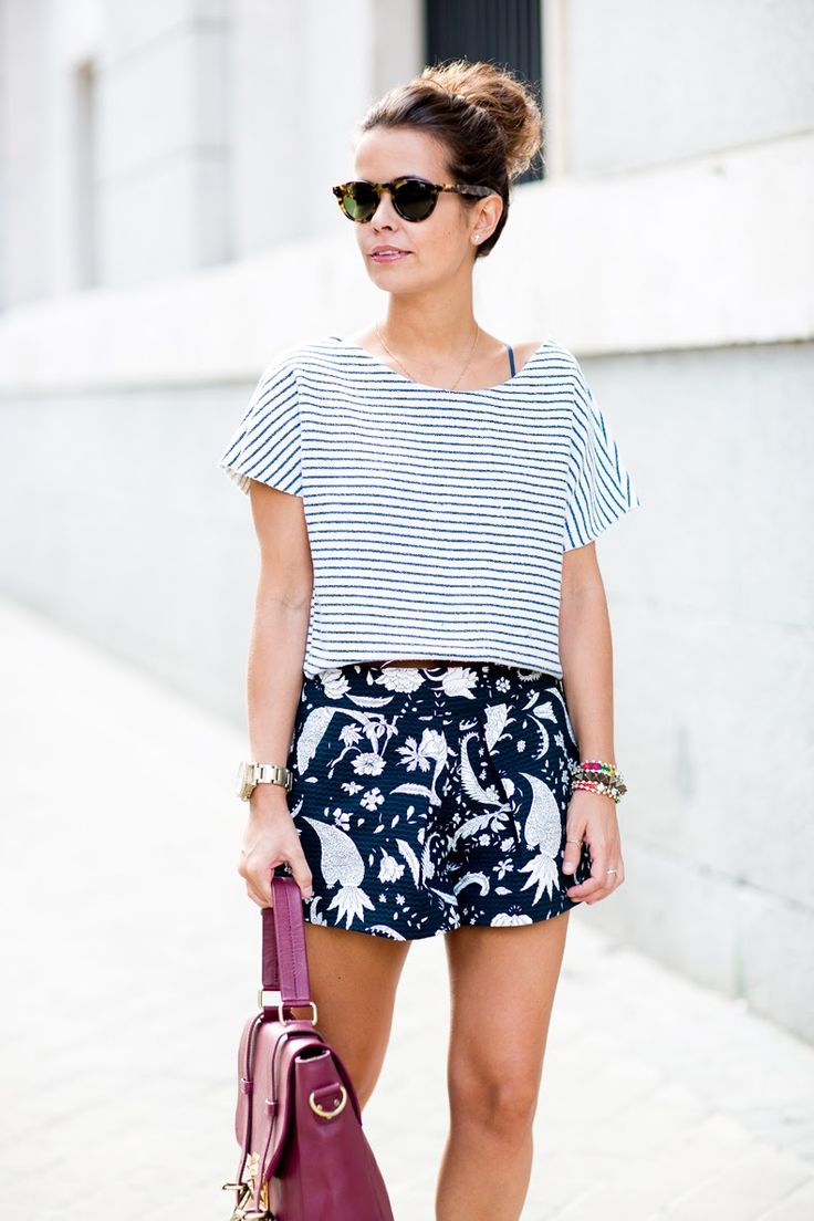 Sticking within the same color family makes mixing prints easy.