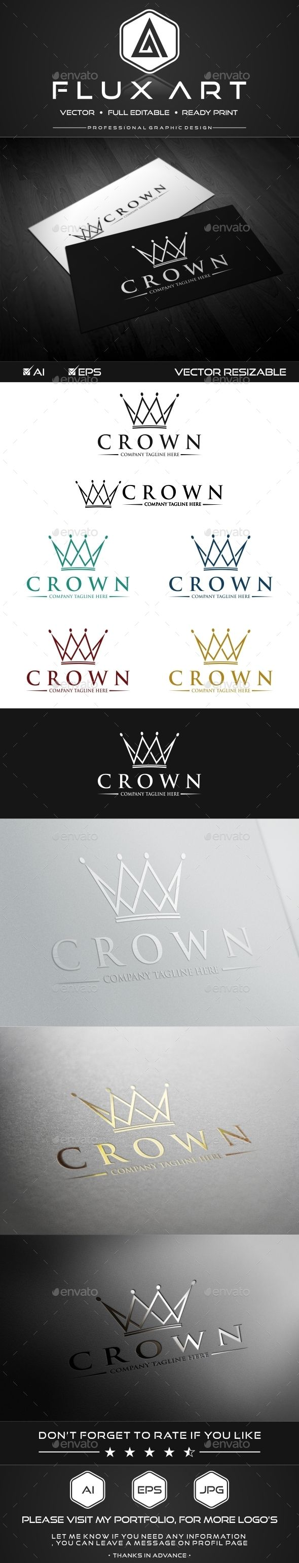 Royal Crown Logo Template #design Download: http://graphicriver.net/item/royal-crown-logo/10172266?ref=ksioks