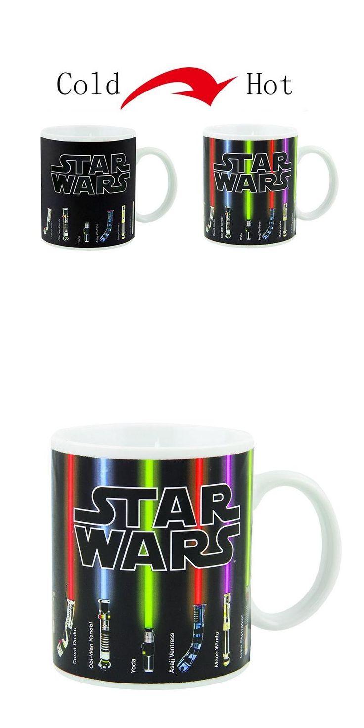 [Visit to Buy] Hot Sale New Fashion Tea Coffee Mug Magic Mugs Cup Change Color Star Wars Lightsaber Heat Reveal Ceramic Mug #Advertisement
