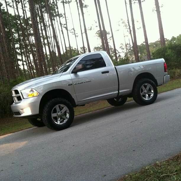 Lifted Ram 1500 Regular Cab W/ Stock Wheels And Rough
