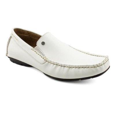 Steve Madden Nickson Loafers Shoes White Mens