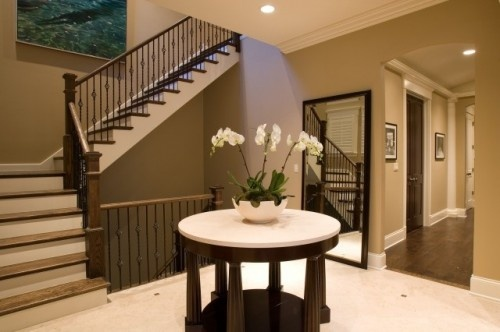 Houzz Foyer Paint : Light brown dark and cream paint color scheme for