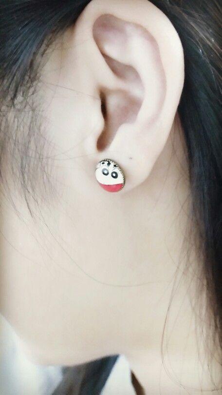 #crayon shin-chan #earrings #loveit