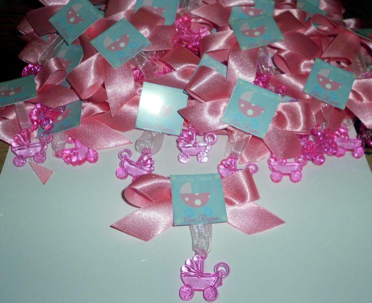 baby shower personalizados con el tema de carreolas en color rosa un