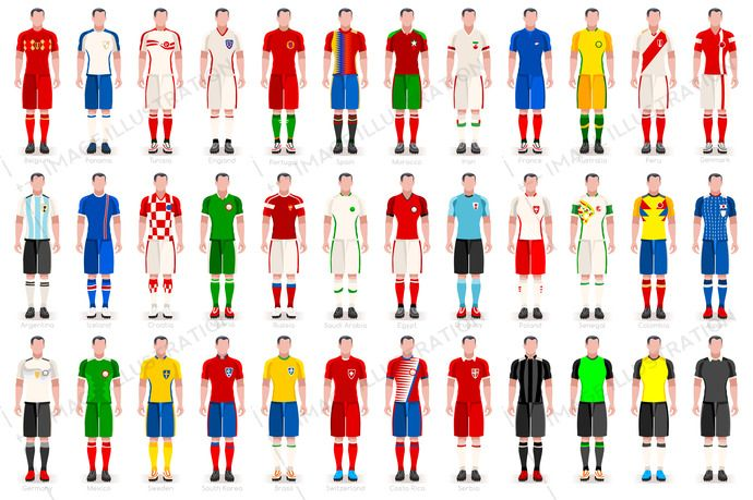 World Cup Countries Jerseys Image Illustration World Cup World Cup Russia 2018 World