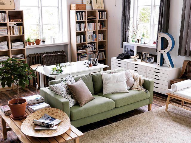 best 25 desk behind couch ideas on pinterest living. Black Bedroom Furniture Sets. Home Design Ideas