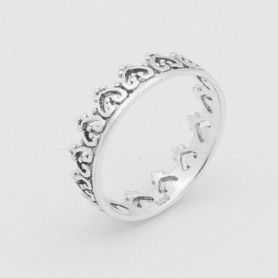 Sterling Silver Kings Daughter Crown Ring