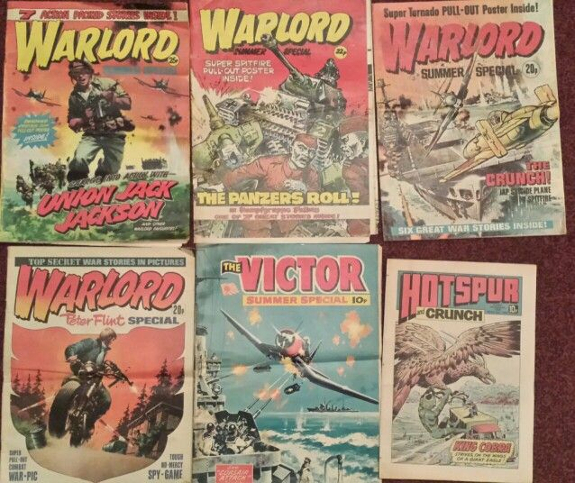 Warlord and Victor comics Summer Specials