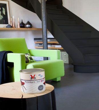 best 25 peinture carrelage sol ideas on pinterest des sols en ciment en peinture peinture. Black Bedroom Furniture Sets. Home Design Ideas
