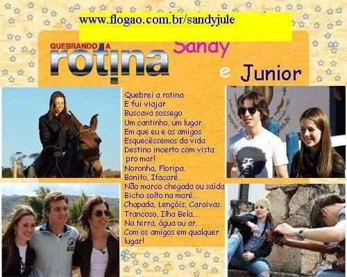 sandyjule | Música feita por Sandy,Junior e Luciano Huck...