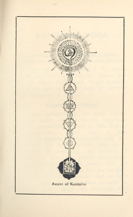 """Kundalini"" energy rising through the spine into the third eye and above"