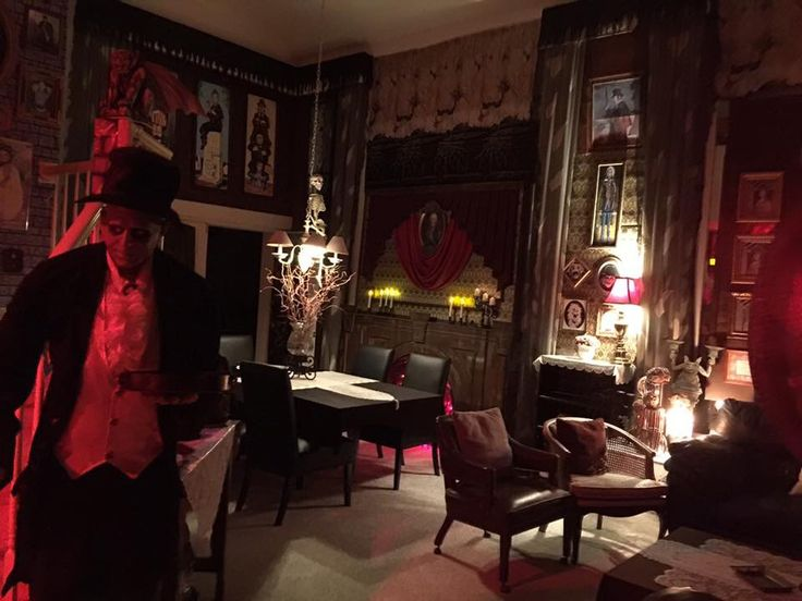 110 best halloween 2016 images on pinterest halloween for Haunted dining room ideas