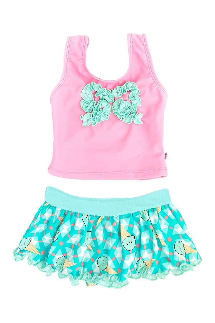Geometric Ice Cream Tankini (Toddler, & Little Girls) by Floatimini on @nordstrom_rack