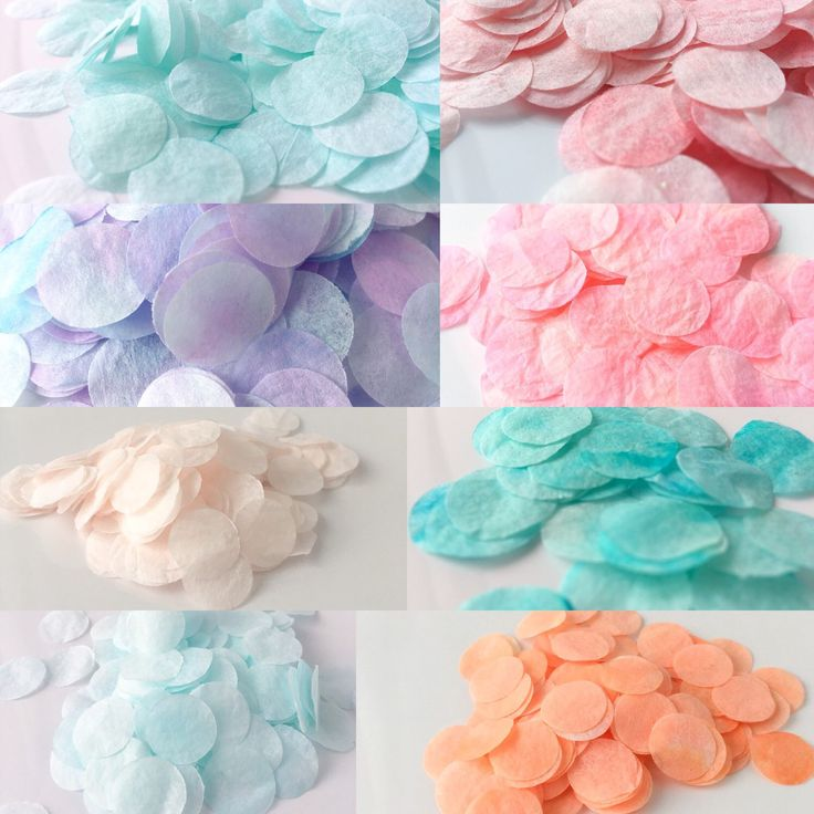 Our latest collection of Custom Confetti!  Hand dyed with our custom dyes. We will create a custom dye for you and all your celebration needs!