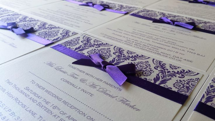 Cadbury Purple Wedding Invitations: 1000+ Ideas About Plum Wedding Invitations On Pinterest